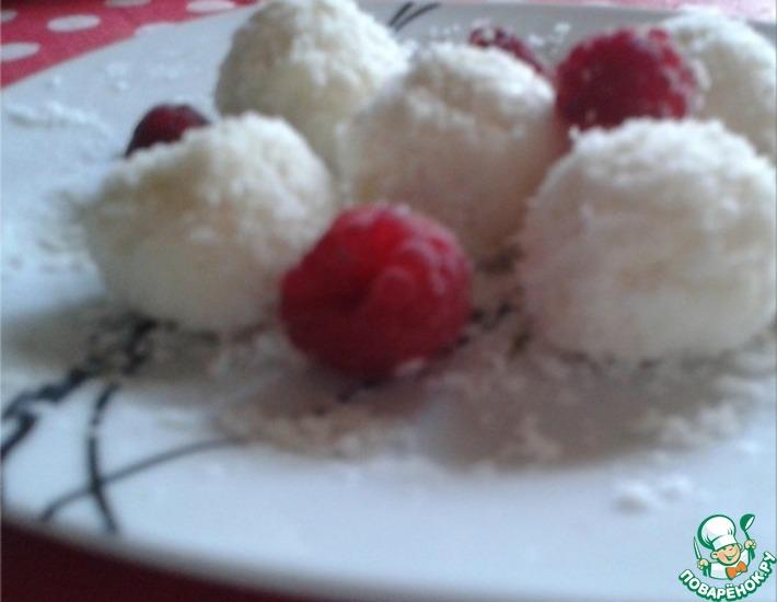 Рецепт: Диетические конфеты Рафаэлло