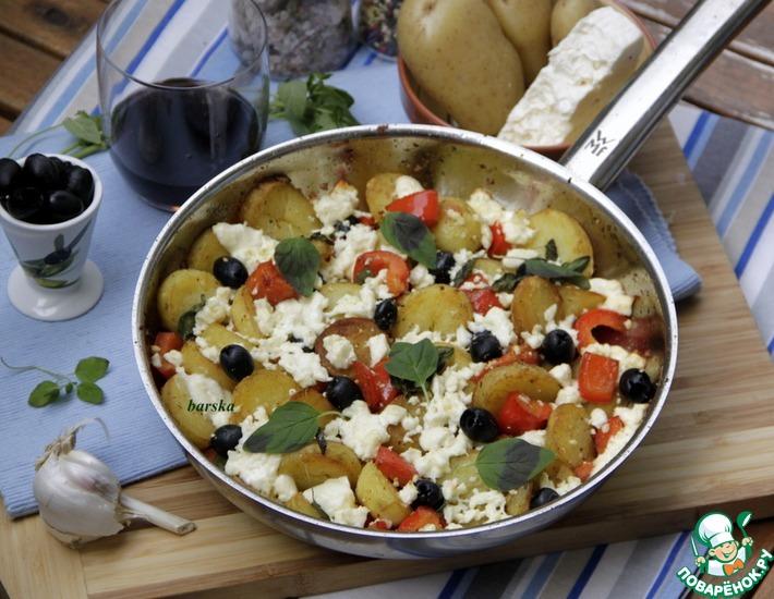 Рецепт: Картофельная сковорода по-гречески