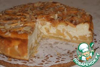 Рецепт: Яблочный пирог с творожным суфле