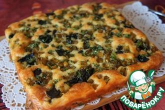 Рецепт: Пирог с грибами и тыквой