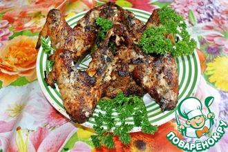 Рецепт: Курица в маринаде из кислых помидор
