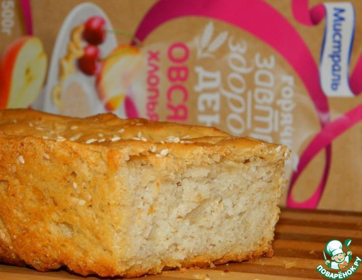 Рецепт: Хлеб с овсяными и рисовыми хлопьями
