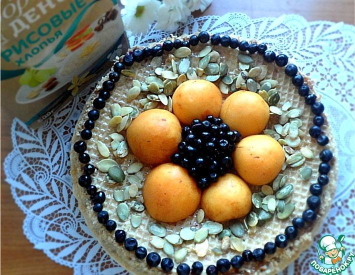 Рецепт: Творожно-рисовая запеканка в вафлях с вареной сгущенкой
