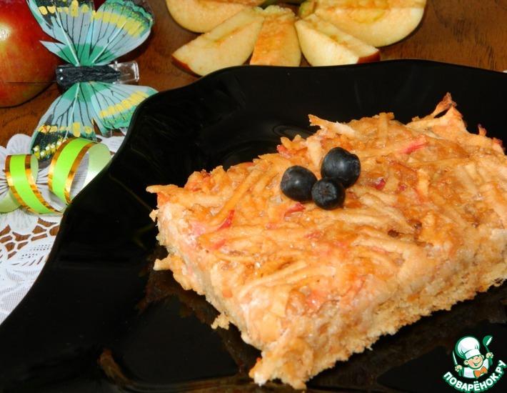 Рецепт: Яблочно-овсяная запеканка