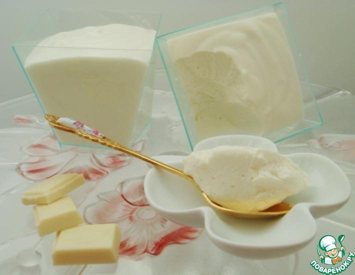 Рецепт: Творожный десерт с белым шоколадом