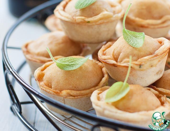 Рецепт: Мини-пироги с картофелем и беконом