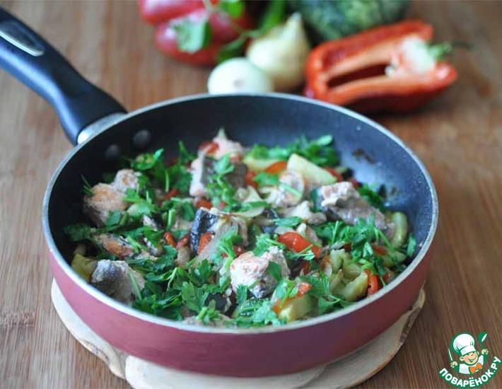 Рецепт: Рыбное рагу с овощами и тмином