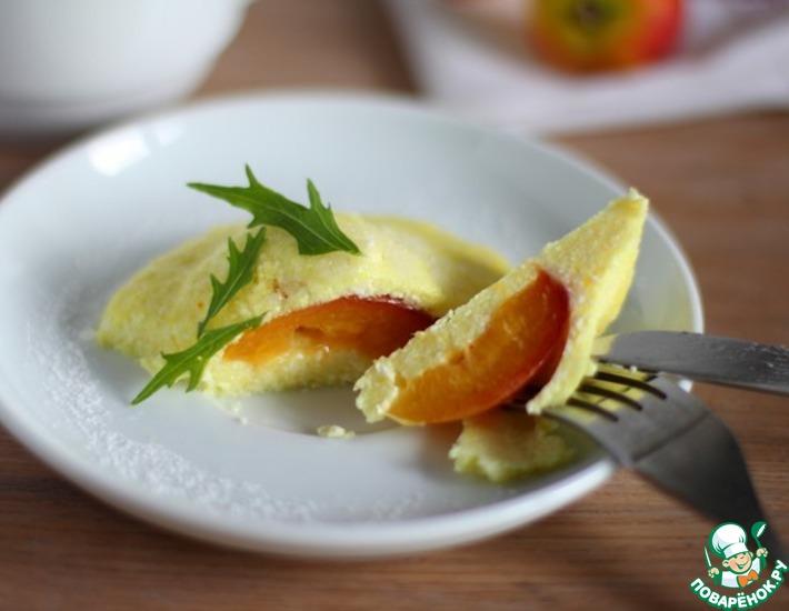 Рецепт: Сырники на пару с фруктовой начинкой