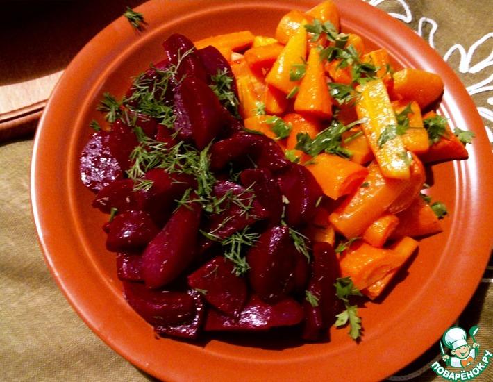Рецепт: Запеченная пряная морковь и свекла