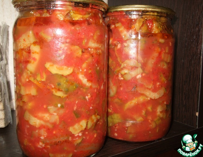 Рецепт: Огурцы в томате