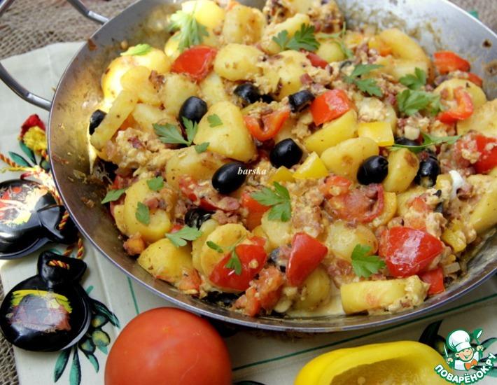 Рецепт: Картофельная сковорода по-испански