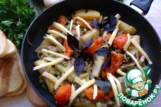 Рецепт: Шампиньоны с сельдереем и овощами