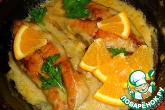 Рецепт: Карп, тушеный в апельсином соусе