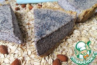 Рецепт: Сметанный пирог с маком и овсяными хлопьями