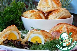 Рецепт: Пирожки с маслятами и яйцом