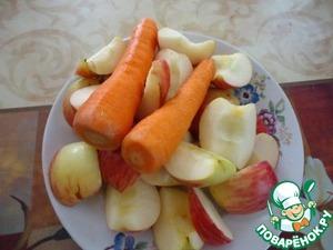 Яблочно морковные оладьи
