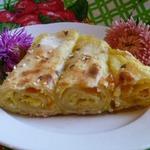 Пирог из лаваша с творогом и тыквой