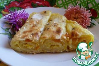 Рецепт: Пирог из лаваша с творогом и тыквой
