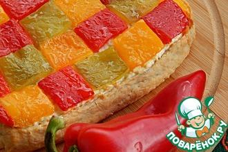 Рецепт: Пряный пирог с перцем и творогом