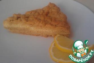 Рецепт: Лимонный пирог с творогом на песочном тесте