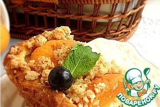 Рецепт: Творожно-абрикосовая ватрушка с овсяным штрейзелем