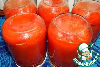 Рецепт: Маринованый перец в томатном соусе