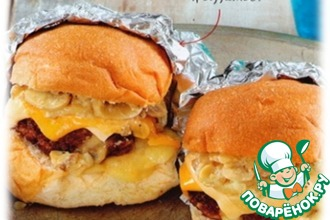Рецепт: Бургеры с сыром и грибами