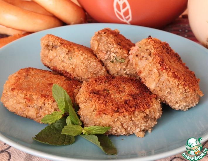 Рецепт: Котлетки из печёных овощей и гречневых хлопьев
