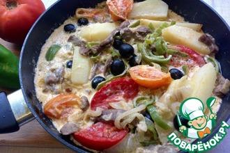 Рецепт: Филе говядины в сливочном соусе