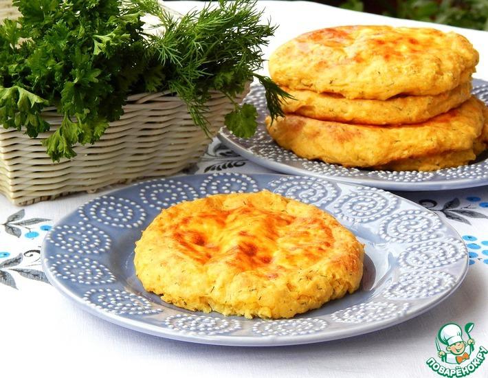 Рецепт: Кукурузно-картофельные лепешки с брынзой