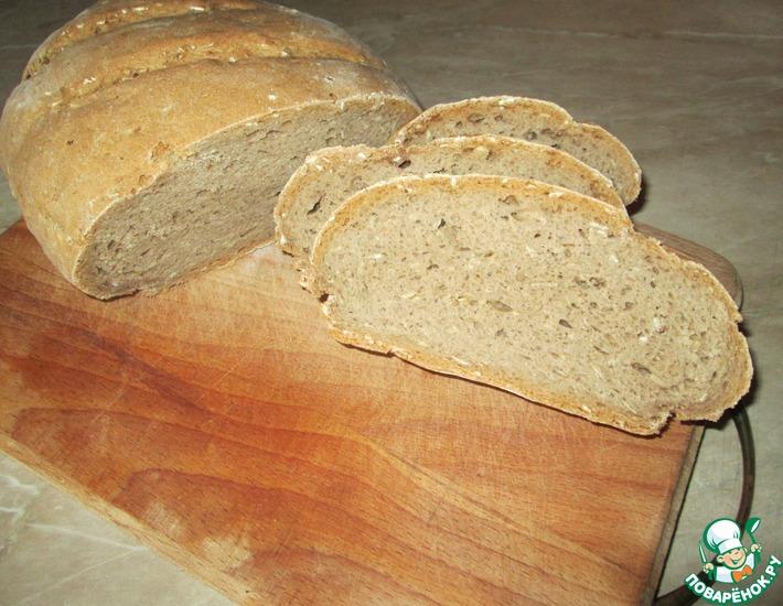 Рецепт: Хлеб ржано-пшеничный с овсяными хлопьями