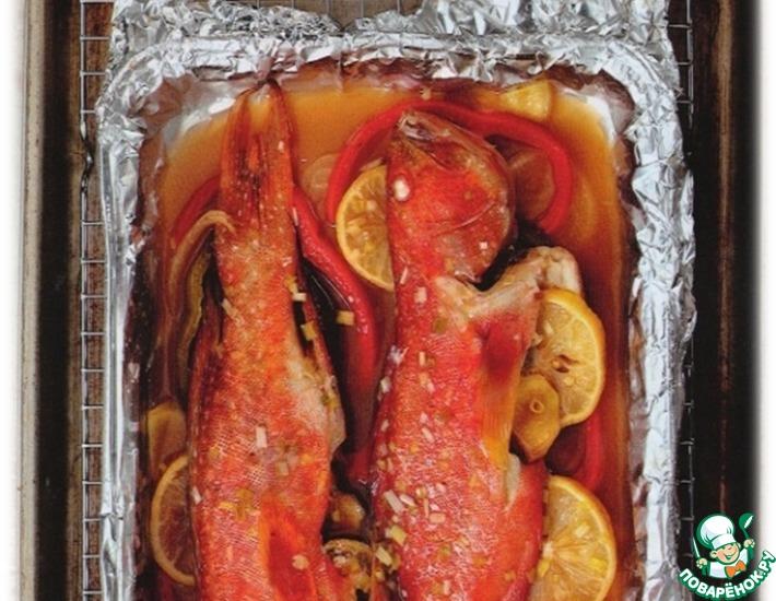 Рецепт: Рыба с лимоном и имбирем