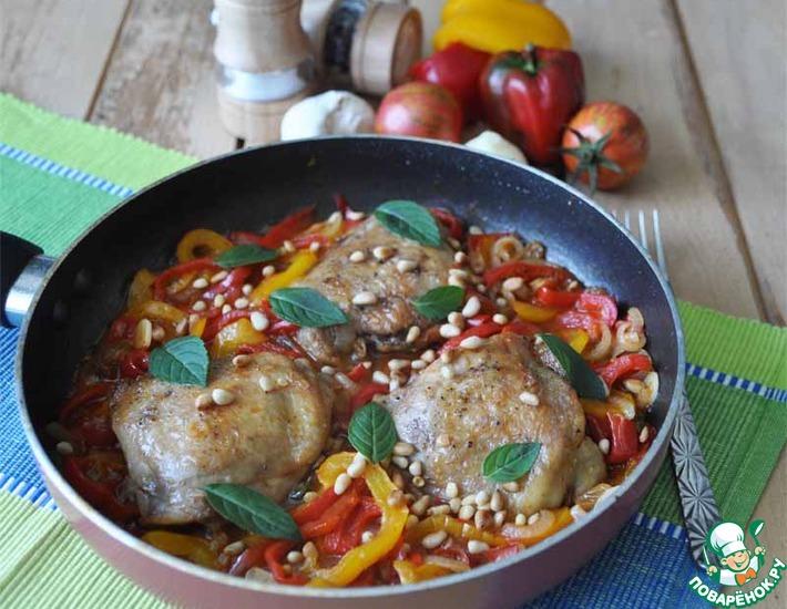 Рецепт: Курица с Сицилийской пеперонатой