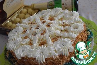 Рецепт: Праздничный торт-шампанское Для друзей!