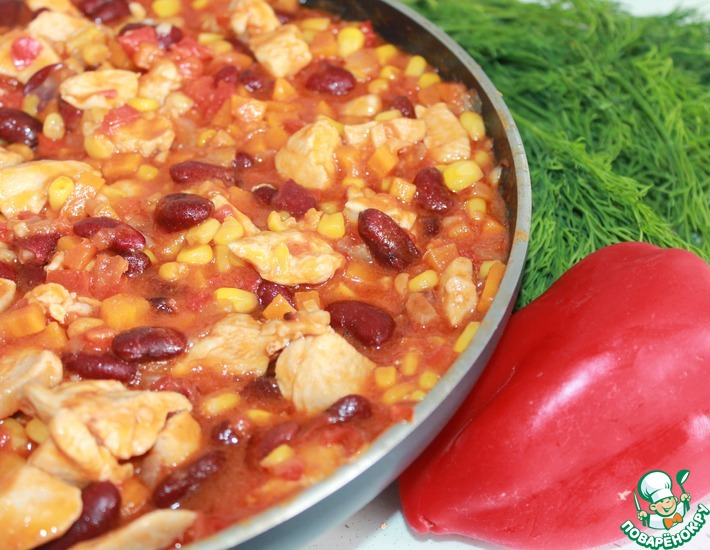Рецепт: Мексиканская сковорода