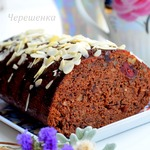 Шоколадный кекс с орехами и вишней