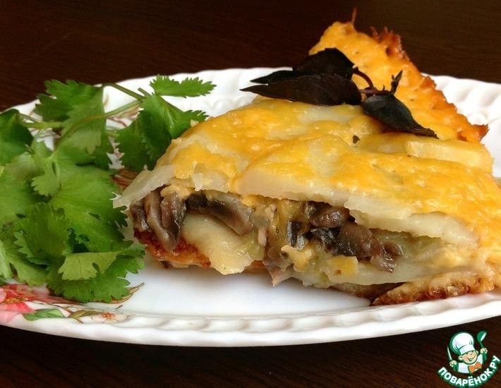 Рецепт: Картофельная запеканка с курицей и овощами