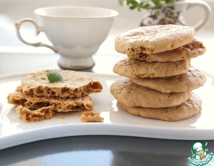 Рецепт: Печенье овсяное хрустящее