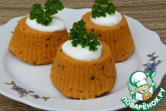 Рецепт: Морковный флан (в мультиварке на пару)
