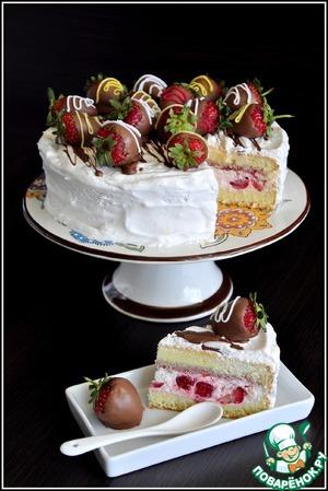 Рецепт: Торт Клубника со сливками