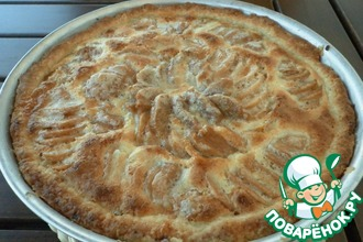 Рецепт: Грушевый пирог с начинкой