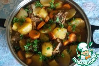 Рецепт: Тушеный картофель по-камерунски