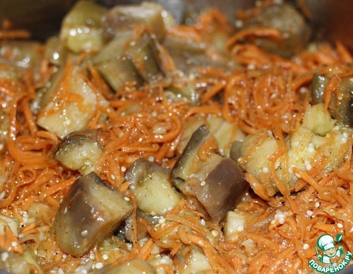Рецепт: Баклажаны по-корейски с морковью