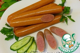 Рецепт: Сосиски домашние чесночные с паприкой