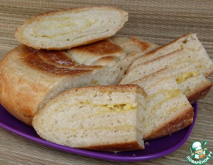 Рецепт: Хлеб с чесноком и сыром