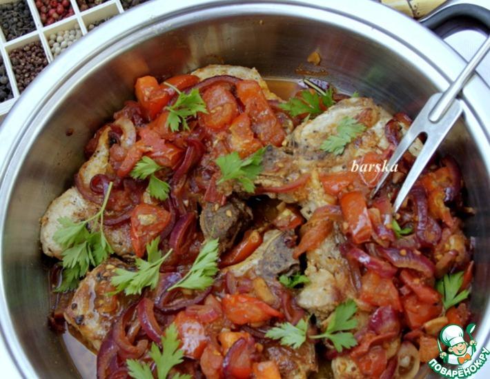 Рецепт: Свинина на косточке по-средиземноморски КотлеТТ