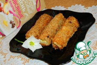 Рецепт: Горячие бутерброды-трубочки