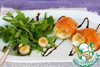 Рецепт: Яйца в рубашке с лососем
