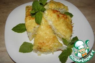 Рецепт: Рыбная запеканка с кабачками и рисом