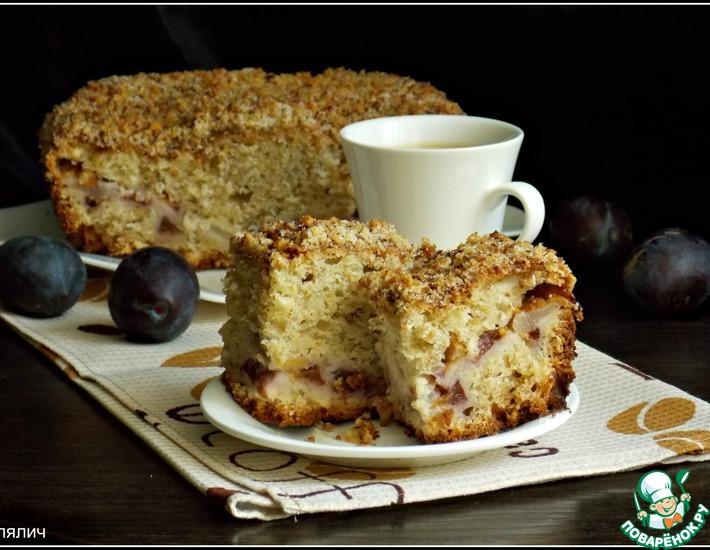 Рецепт: Фруктовый пирог на сметане